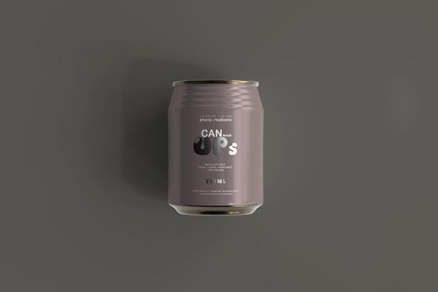 Mockup van 250 ml frisdrankblikje