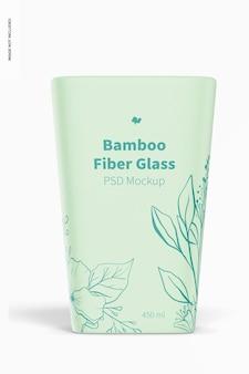 Mockup van 450 ml bamboevezelglas, vooraanzicht