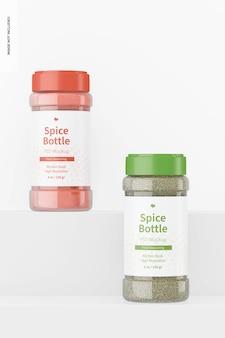 Mockup van 8 oz spice-flessen