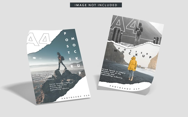 Mockup van a4-posters