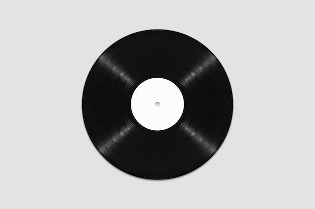 Mockup van bovenaanzicht blanco vinylplaat