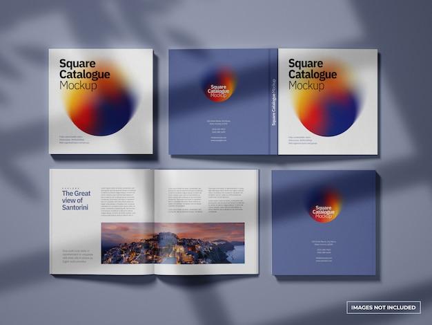 Mockup van catalogi en tijdschriften