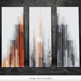 Mockup van drie canvas