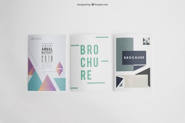Mockup van drie flyers