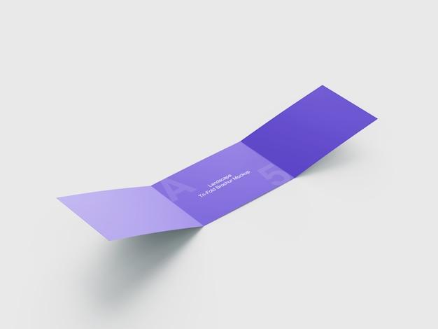 Mockup van driebladige brochure