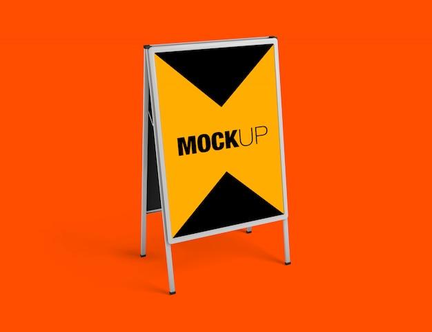 Mockup van een stand-display