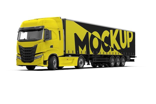 Mockup van een vrachtwagen