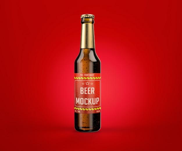 Mockup van flesje bier