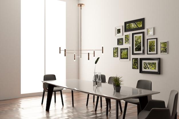 Mockup van frames in het interieur