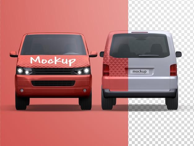 Mockup van geïsoleerde bestelwagen voor bedrijfsvoertuigen