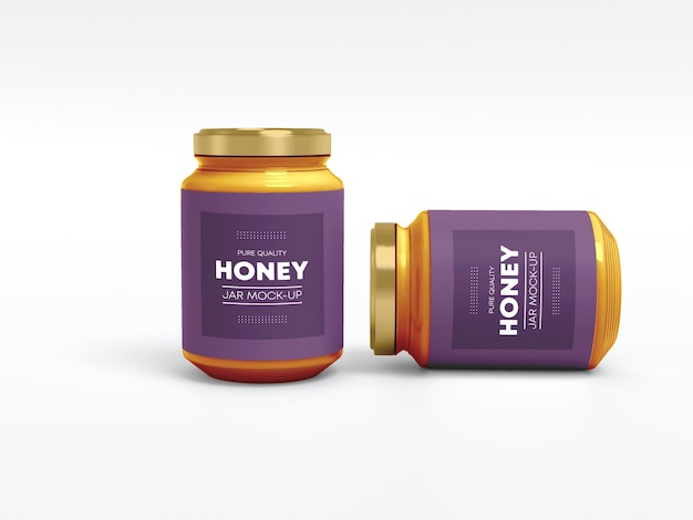 Mockup van glazen honingpot