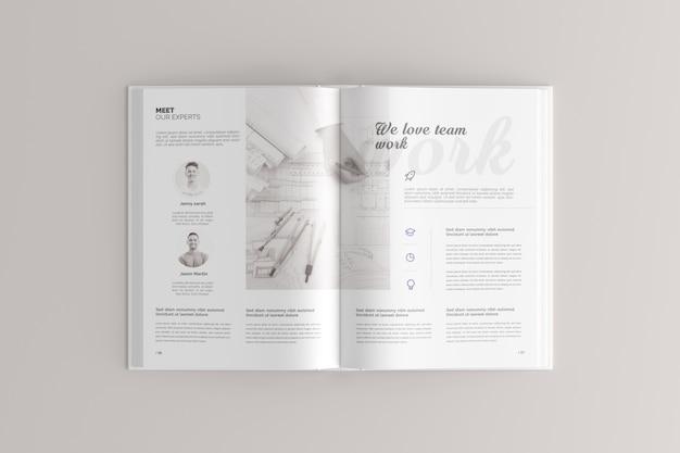 Mockup van hardcoverboek