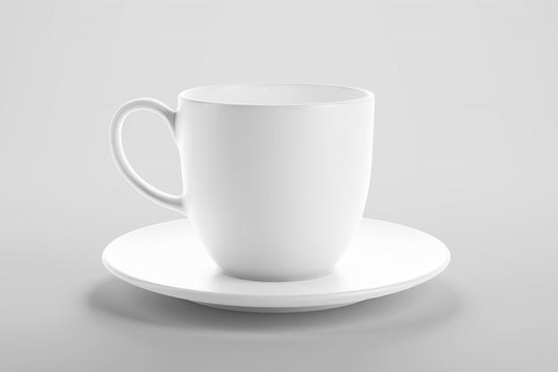 Mockup van koffie of thee kopje in schone studio scène
