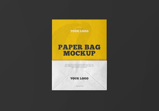 Mockup van kraft-papieren zak