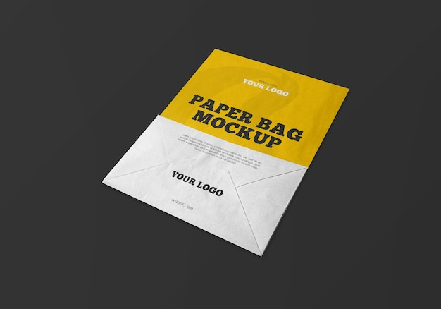 Mockup van kraft-papieren zak Premium Psd