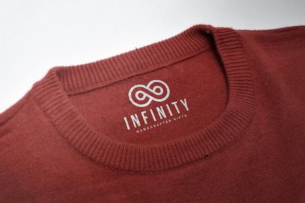 Mockup van logo op een shirt-tag
