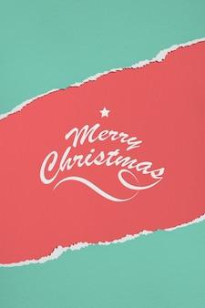 Mockup van papier vrolijk kerstfeest