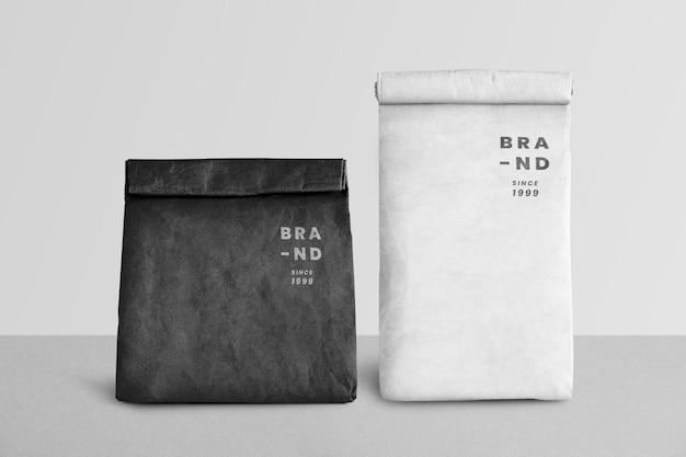 Mockup van papieren boodschappentassen
