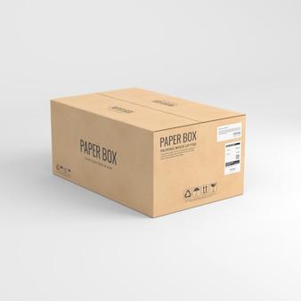 Mockup van papieren doos