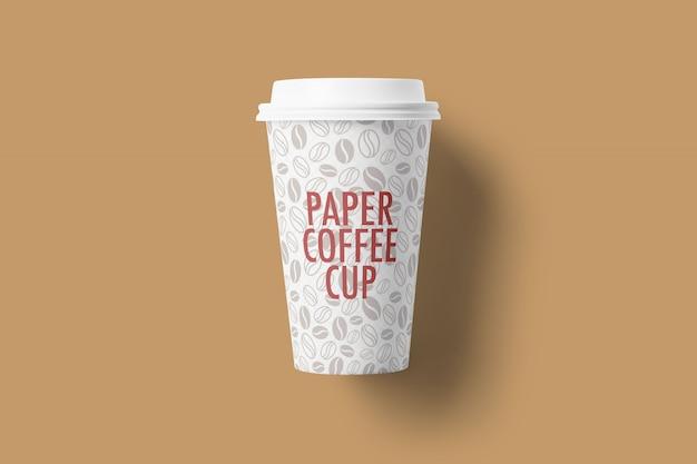 Mockup van papieren koffiekopjes