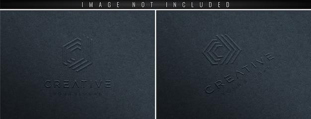 Mockup van papieren logo