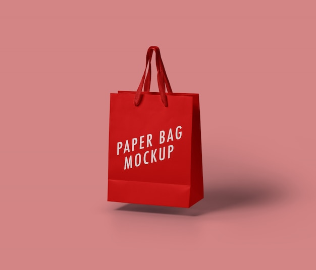 Mockup van papieren zak