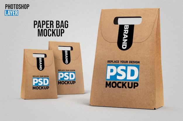 Mockup van papieren zakken