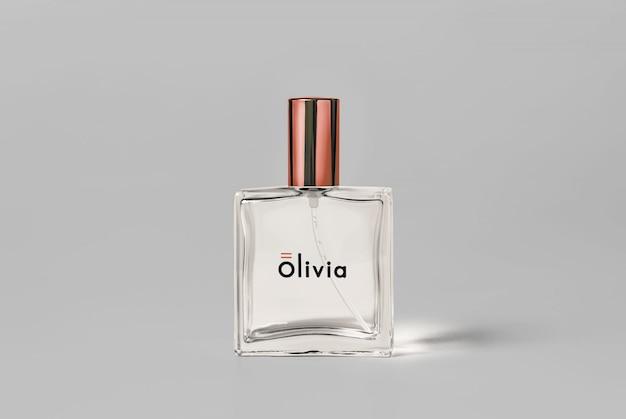 Mockup van parfumfles pakketfles
