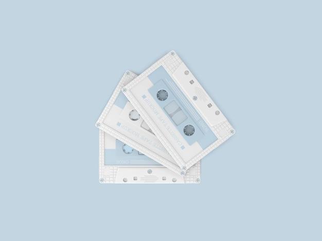 Mockup van plastic cassettebandjes