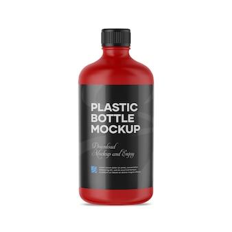 Mockup van plastic fles
