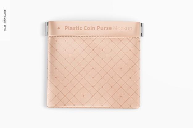 Mockup van plastic portemonnee