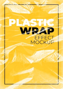 Mockup van plasticfolie