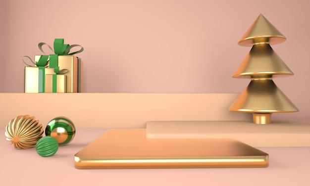 Mockup van podium voor branding van 3d-rendering