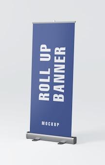 Mockup van roll-up banner staan