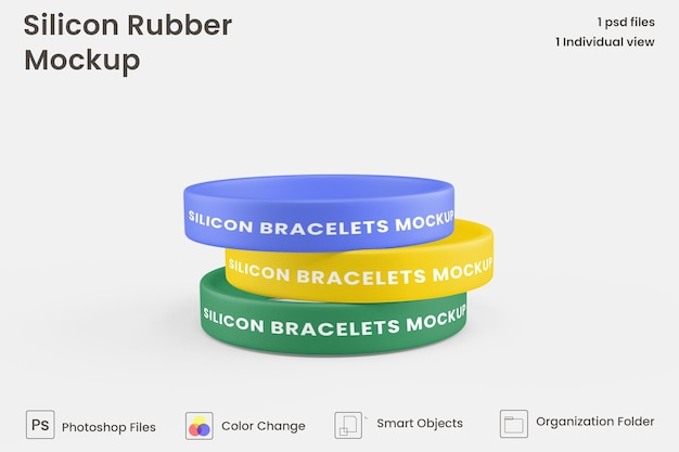 Mockup van siliconenrubber armband