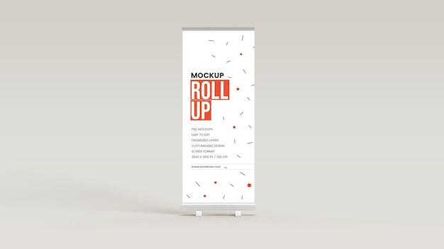 Mockup van staande banner en roll-up banner