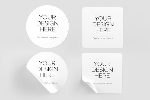 Mockup van stickers Premium Psd