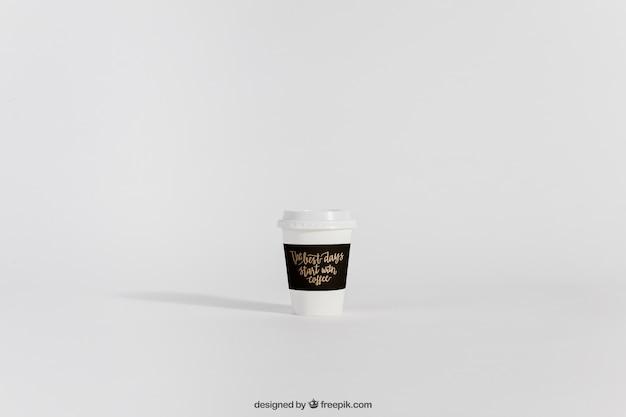 Mockup van take-away koffiekopje