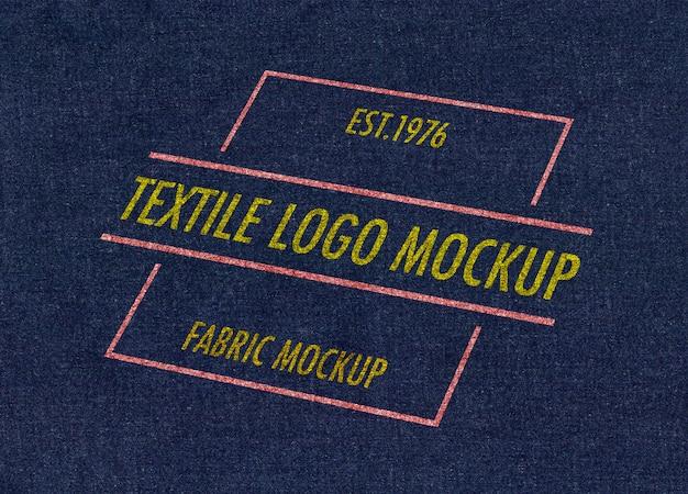 Mockup van textiellogo