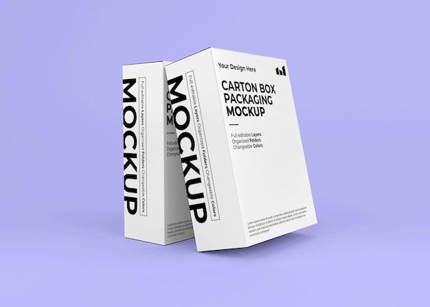 Mockup van twee kartonnen dozen voor productbranding