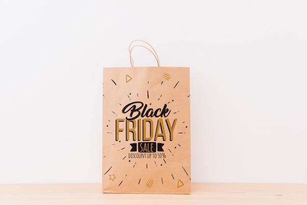 Mockup van verschillende boodschappentassen voor zwarte vrijdag