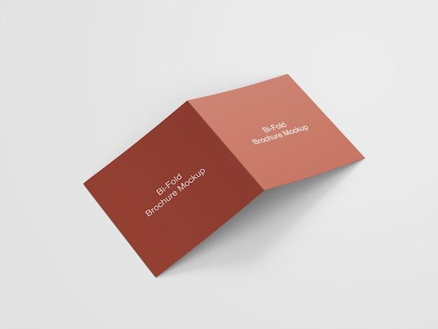 Mockup van vierkante tweevoudige brochure