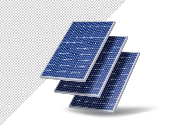 Mockup van zonnepanelen, fotovoltaïsche energie