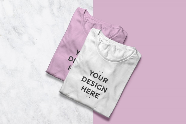 Mockup vetrina di magliette pulite