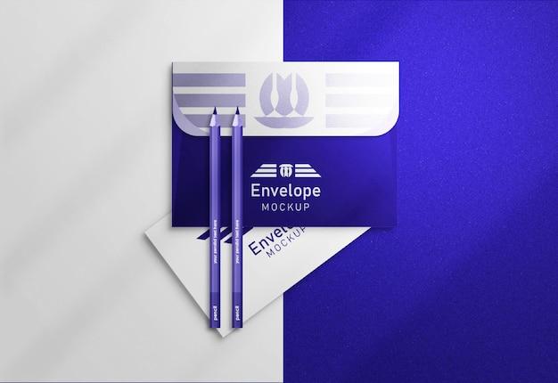 Mockup vierkante envelop