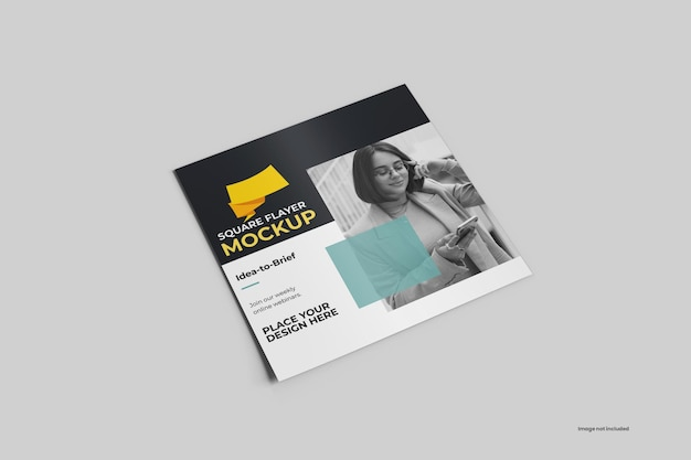 Mockup vierkante flyer