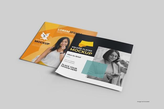 Mockup vierkante flyer Premium Psd