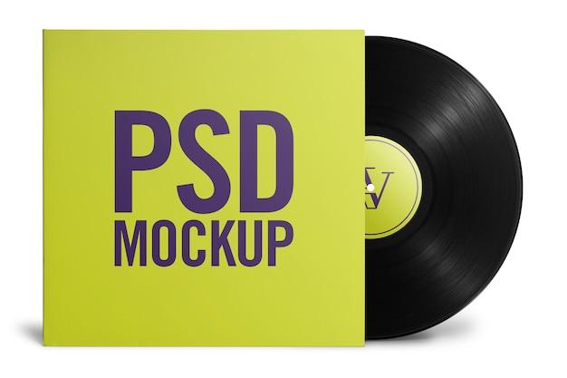 Mockup vinyl met cover