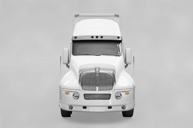 Mockup de vista frontal de camión