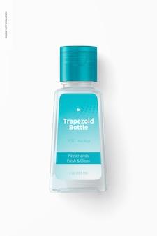 Mockup voor 1 oz trapeziumvormige fles